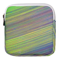 Diagonal Lines Abstract Mini Square Pouch