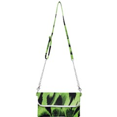Green Tiger Background Fabric Animal Motifs Mini Crossbody Handbag by Jojostore