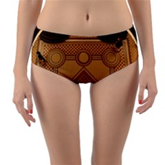 The Elaborate Floor Pattern Of The Sydney Queen Victoria Building Reversible Mid Waist Bikini Bottoms by Jojostore