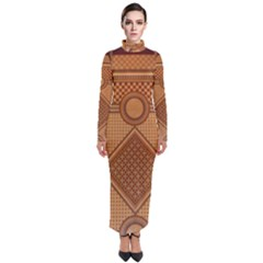 The Elaborate Floor Pattern Of The Sydney Queen Victoria Building Turtleneck Maxi Dress