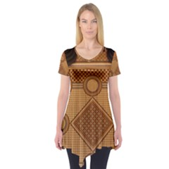 The Elaborate Floor Pattern Of The Sydney Queen Victoria Building Short Sleeve Tunic