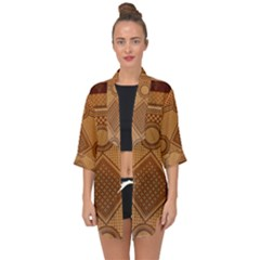 The Elaborate Floor Pattern Of The Sydney Queen Victoria Building Open Front Chiffon Kimono by Jojostore