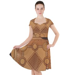 The Elaborate Floor Pattern Of The Sydney Queen Victoria Building Cap Sleeve Midi Dress
