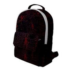 Black And Red Background Flap Pocket Backpack (large) by Jojostore