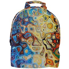 Background Structure Absstrakt Color Texture Mini Full Print Backpack by Jojostore