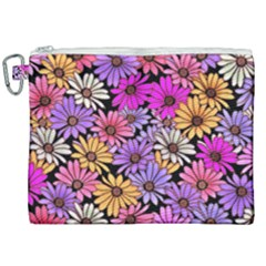 Floral Pattern Canvas Cosmetic Bag (xxl) by Jojostore
