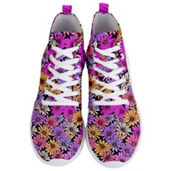 Floral Pattern Men s Lightweight High Top Sneakers