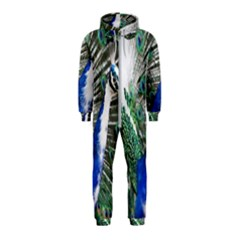 Animal Photography Peacock Bird Hooded Jumpsuit (kids)