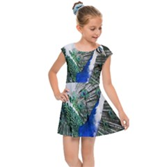 Animal Photography Peacock Bird Kids Cap Sleeve Dress