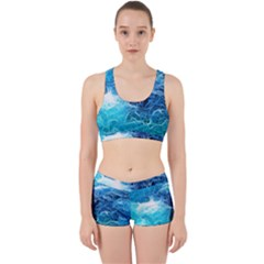 Fractal Ocean Waves Artistic Background Work It Out Gym Set