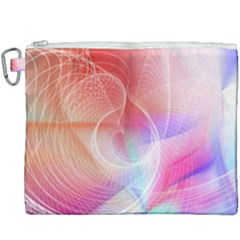 Background Nebulous Fog Rings Canvas Cosmetic Bag (xxxl)