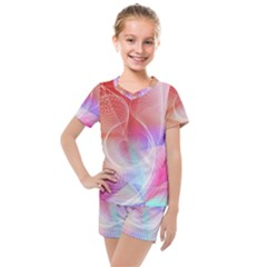 Background Nebulous Fog Rings Kids  Mesh Tee And Shorts Set