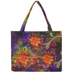 Abstract Flowers Floral Decorative Mini Tote Bag by Jojostore