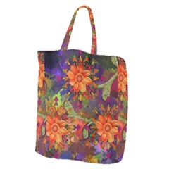 Abstract Flowers Floral Decorative Giant Grocery Tote by Jojostore