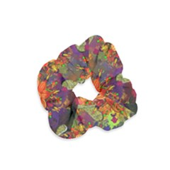 Abstract Flowers Floral Decorative Velvet Scrunchie