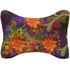 Abstract Flowers Floral Decorative Seat Head Rest Cushion by Jojostore