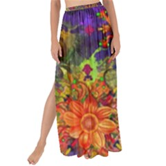 Abstract Flowers Floral Decorative Maxi Chiffon Tie Up Sarong
