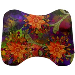 Abstract Flowers Floral Decorative Head Support Cushion by Jojostore