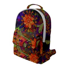 Abstract Flowers Floral Decorative Flap Pocket Backpack (large) by Jojostore