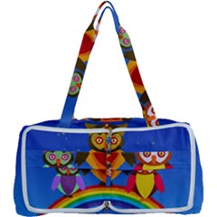 Owls Rainbow Animals Birds Nature Multi Function Bag