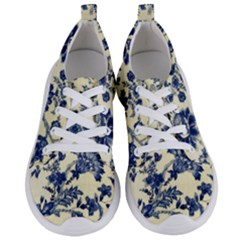 Vintage Blue Drawings On Fabric Women s Lightweight Sports Shoes