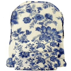 Vintage Blue Drawings On Fabric Giant Full Print Backpack