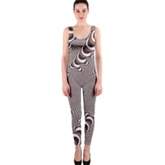 Digital Fractal Pattern One Piece Catsuit
