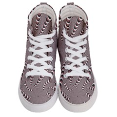 Digital Fractal Pattern Men s Hi Top Skate Sneakers