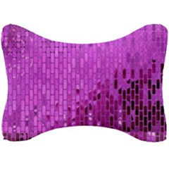 Purple Background Scrapbooking Paper Seat Head Rest Cushion by Jojostore