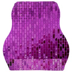 Purple Background Scrapbooking Paper Car Seat Velour Cushion  by Jojostore