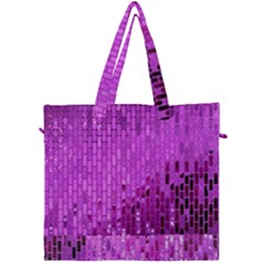 Purple Background Scrapbooking Paper Canvas Travel Bag by Jojostore