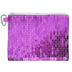 Purple Background Scrapbooking Paper Canvas Cosmetic Bag (xxl) by Jojostore
