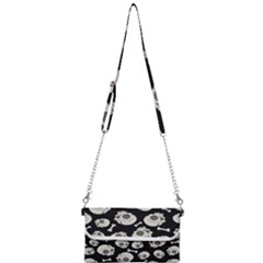 Halloween Skull Pattern Mini Crossbody Handbag by Valentinaart