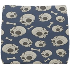 Halloween Skull Pattern Seat Cushion by Valentinaart