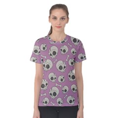 Halloween Skull Pattern Women s Cotton Tee