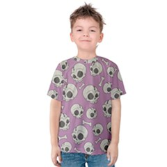 Halloween Skull Pattern Kids  Cotton Tee