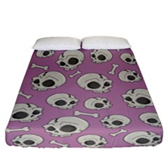 Halloween Skull Pattern Fitted Sheet (california King Size)
