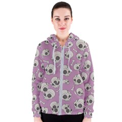 Halloween Skull Pattern Women s Zipper Hoodie