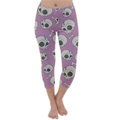 Halloween Skull Pattern Capri Winter Leggings