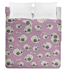Halloween Skull Pattern Duvet Cover Double Side (queen Size)