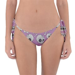 Halloween Skull Pattern Reversible Bikini Bottom