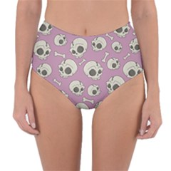 Halloween Skull Pattern Reversible High Waist Bikini Bottoms