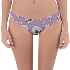 Halloween Skull Pattern Reversible Hipster Bikini Bottoms