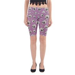 Halloween Skull Pattern Yoga Cropped Leggings