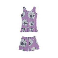 Halloween Skull Pattern Kid s Boyleg Swimsuit