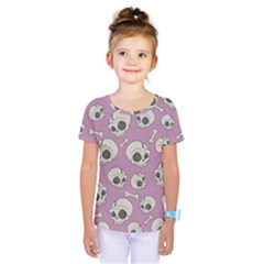 Halloween Skull Pattern Kids  One Piece Tee