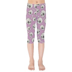 Halloween Skull Pattern Kids  Capri Leggings