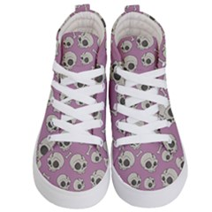 Halloween Skull Pattern Kid s Hi Top Skate Sneakers