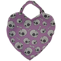 Halloween Skull Pattern Giant Heart Shaped Tote