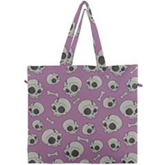 Halloween Skull Pattern Canvas Travel Bag